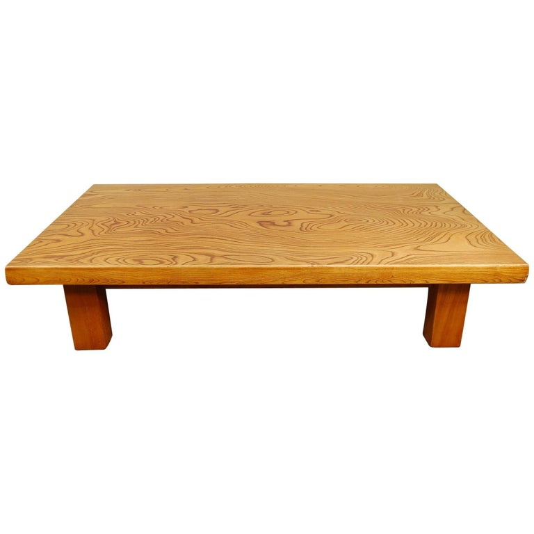Japanese Low Table in Elm For Sale