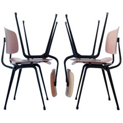 Set of Four Industrial Chairs, Model Revolt by Friso Kramer for Ahrend de Cirkel