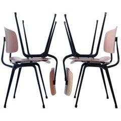 Set of Four Industrial Chairs, Model Revolt by Friso Kramer for Ahrend de Cirkel