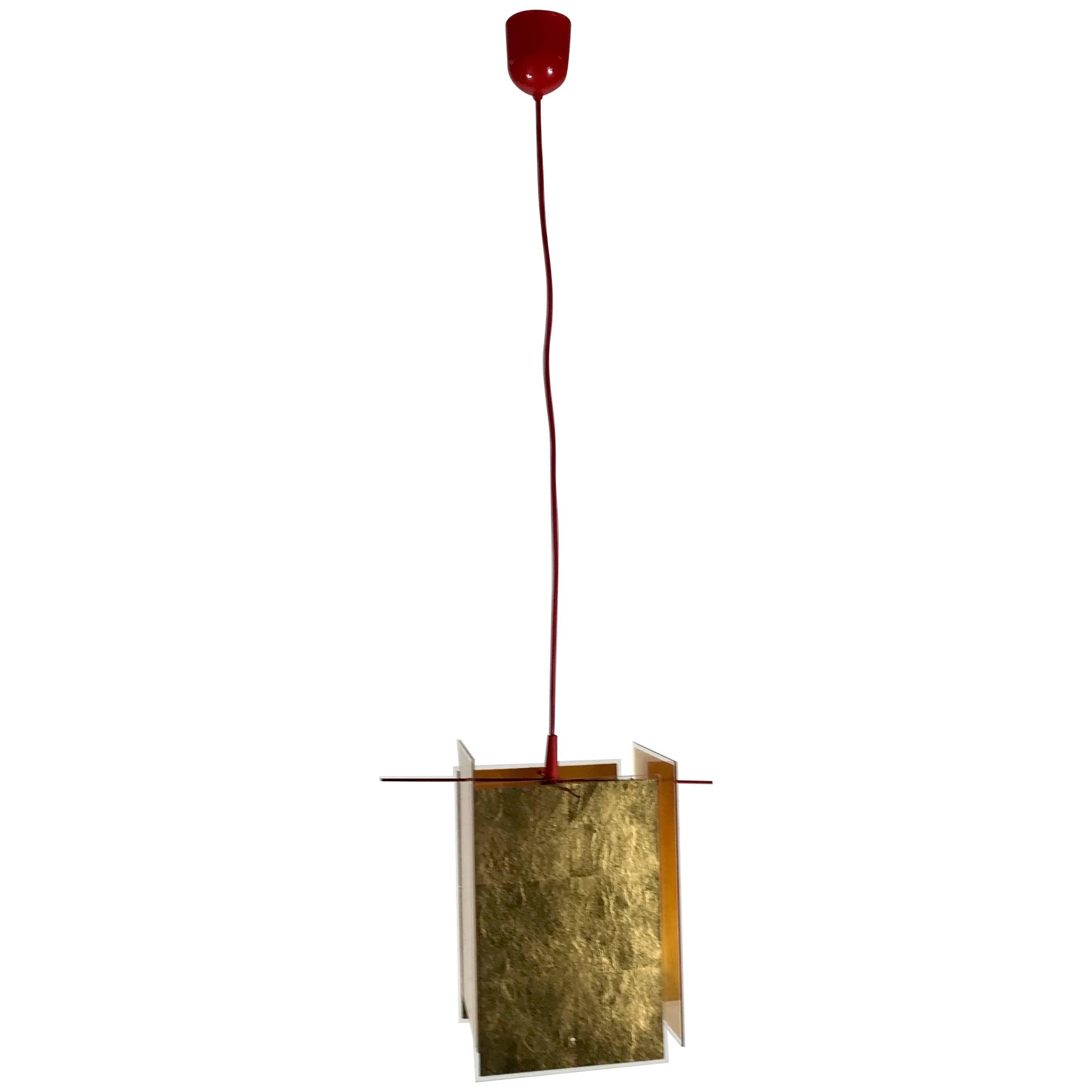 Ingo Maurer 24 Karat Blau Pendant Lamp, Contemporary Modern, Germany For  Sale