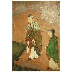 18th Century Japanese Kano School Landscape Screen
