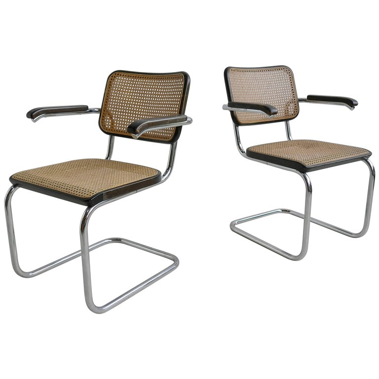pair of marcel breuer s64 chairs by thonet for sale at 1stdibs. Black Bedroom Furniture Sets. Home Design Ideas