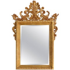 La Barge Italian Giltwood Carved Mirror