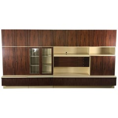 Massive Mid-Century Modern Rosewood Wall Unit by Bartels of Germany