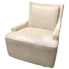 New Barbara Barry Scoop Swivel Cowhide Chair for HBF