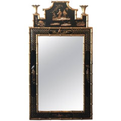 Pagoda Chinoiserie Wall Mirror Asian Faux Bamboo Chinese Chippendale