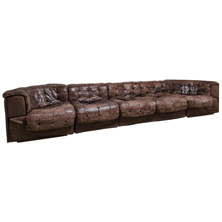 20th Century Leather Sectional Sofa by De Sede, Switzerland 1