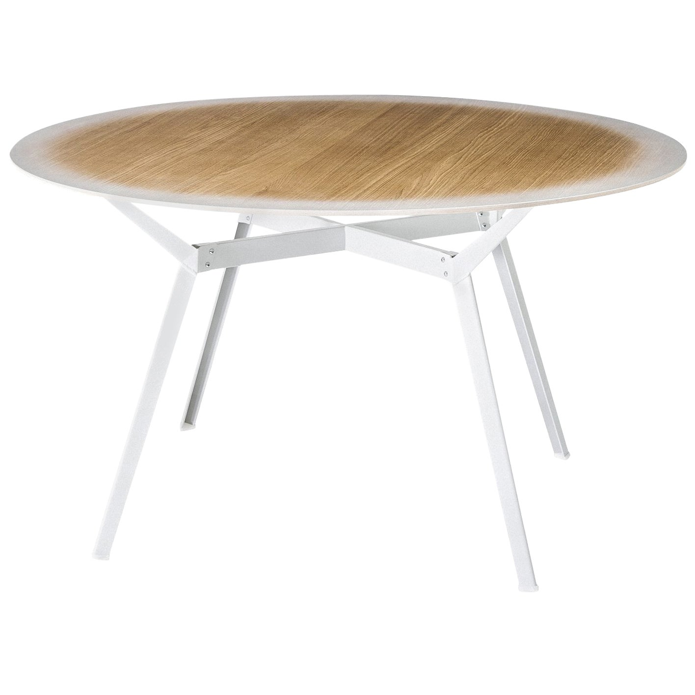 """Pylon Gradient"" Round Table with Oak Top and Steel Base by Moroso for Diesel"
