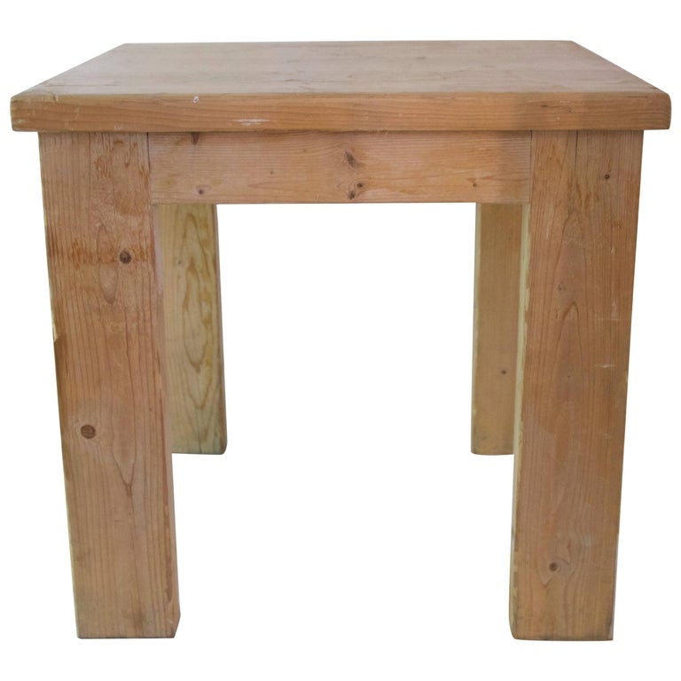 Jean Prouvé with Guy Rey-Millet, Dining Room Table, Wood, Refuge de la Vanoise For Sale