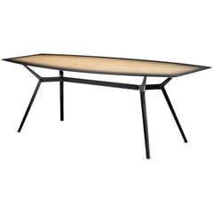 """Pylon Gradient"" Rectangular Dining Table in Wood & Steel by Moroso for Diesel"