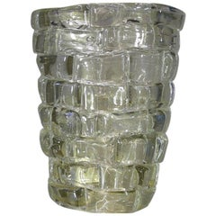 Murano Glass Vase, Italy 'Clear'