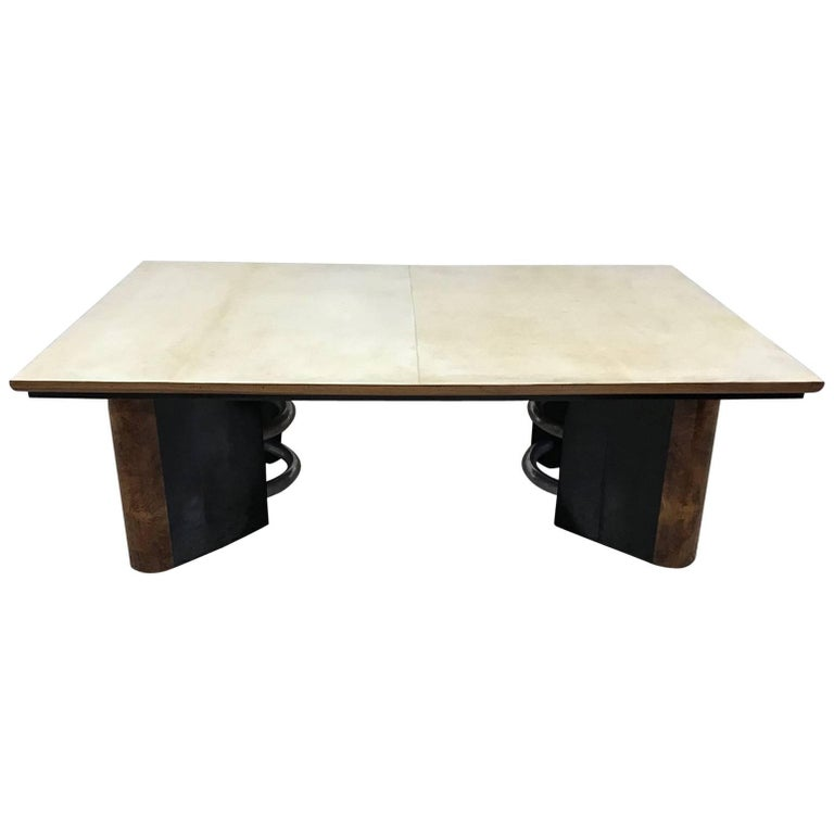 Italian Art Deco Parchment Coffee Table
