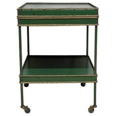 French 1950s Tole Table on Casters