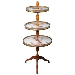 Antique Gilt Bronze and Porcelain Cake Stand