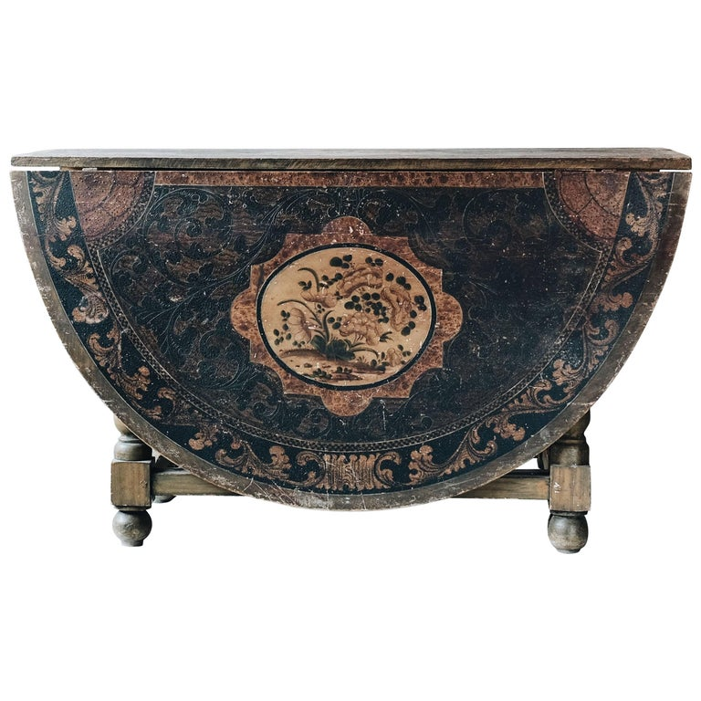 18th Century Swedish Baroque Table  For Sale