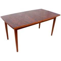 Midcentury Rosewood and Teak Dining Table