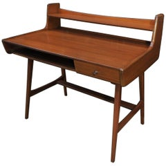 Mahogany Desk by Jacques Hauville, circa 1960