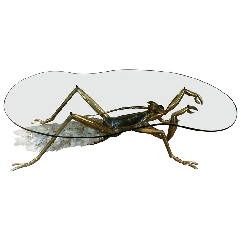 Massive Jacques Duval Brasseur Coffee Table in Form of a Praying Mantis