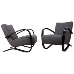 Art Deco H269 Armchairs by Jindrich Halabala for Thonet
