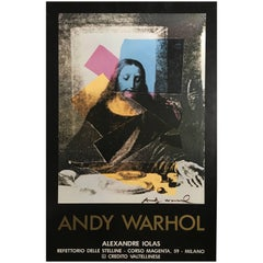 Andy Warhol Last Supper Exhibition Signed Rare Poster by Iolas Gallery