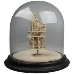 Napoleonic Prisoner of War Spinning Jenny Automaton, circa 1810