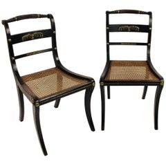 Pair of Regency Sabre Legged Chairs