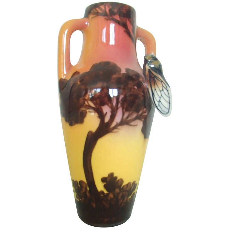 Art Deco Ceramic Vase with Cygal Signed