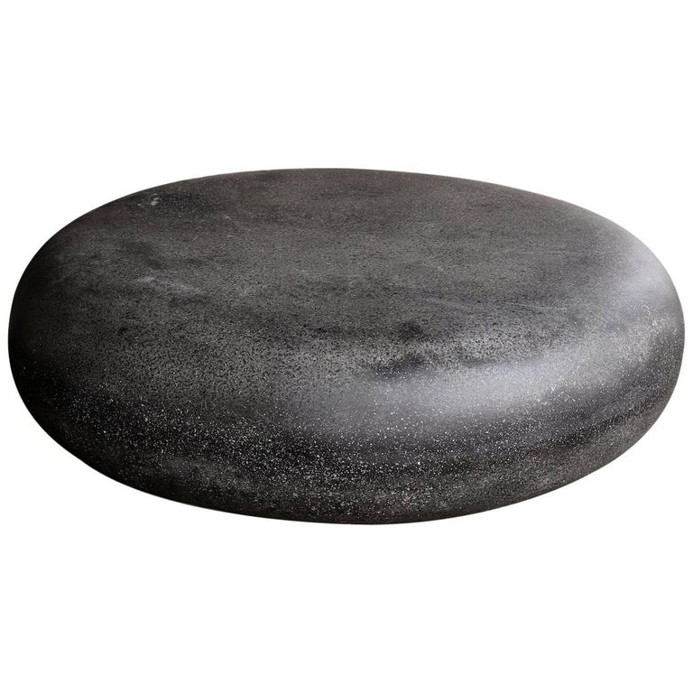 Lightweight Outdoor Pebble Cocktail Table in Coal by Zachary A