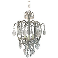 Lovely Crystal Chandelier from Maison Baguès, circa 1960