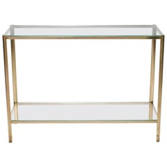 Bronze Console Table by Jacques Quinet for Broncz, 1960s