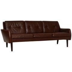1960s Danish Vintage Leather Sofa