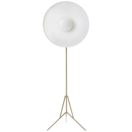 Parabola White, Copper Floor Lamp by Atelier Biagetti