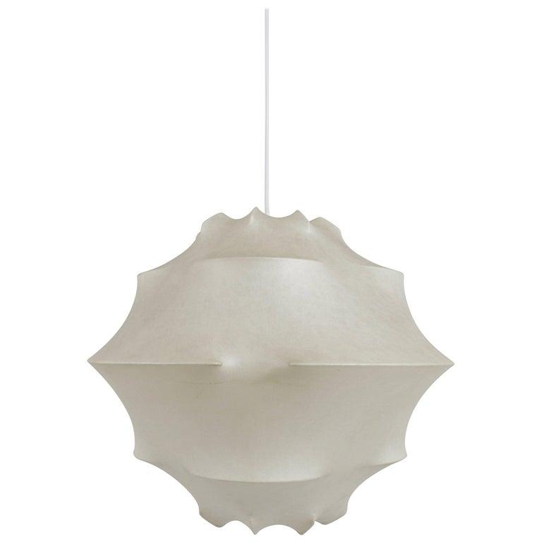 Achille Pier Giacomo Castiglioni Cocoon Pendant Light Flos Italy 1960s For Sale