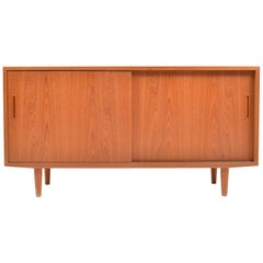 Small Teak Wooden Sideboard