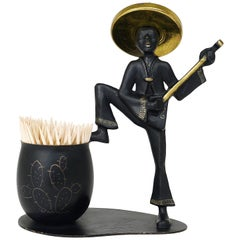 Mexican Playing Guitar Sculptural Toothpick Stand, Hertha Baller, Austria, 1950s