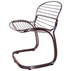 "Italian Design Chrome ""Sabrina"" Chair by Gastone Rinaldi for Rima"