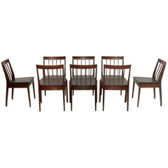 1960s Set of Eight Teak Dining Chairs by Robert Heritage for Archie Shine