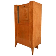 Art Deco Lady Secretaire in Norwegian Silverbirch with Intarsia