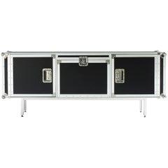 """Total Flightcase"" Aluminum Frame & Plywood Large Cabinet by Moroso for Diesel"