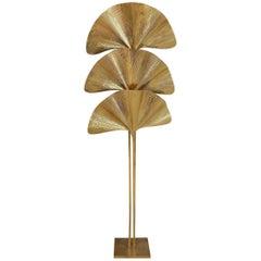 Carlo Giorgi for Bottega Gadda Brass Ginkgo Floor Lamp
