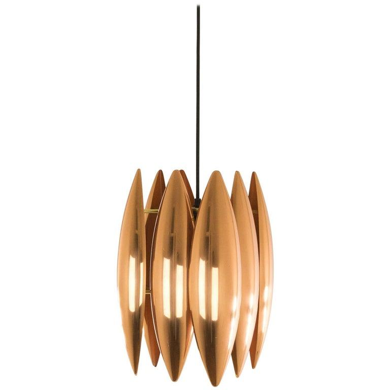 Copper Kastor Pendant by Jo Hammerborg for Fog & Mørup, 1960s For Sale