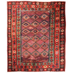 Specially Large Rare Old Fine Turkish Kilim Sharkoy