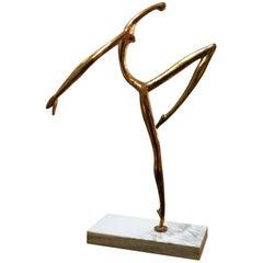 Manuel Carbonell Large Bronze Sculpture of Dancer