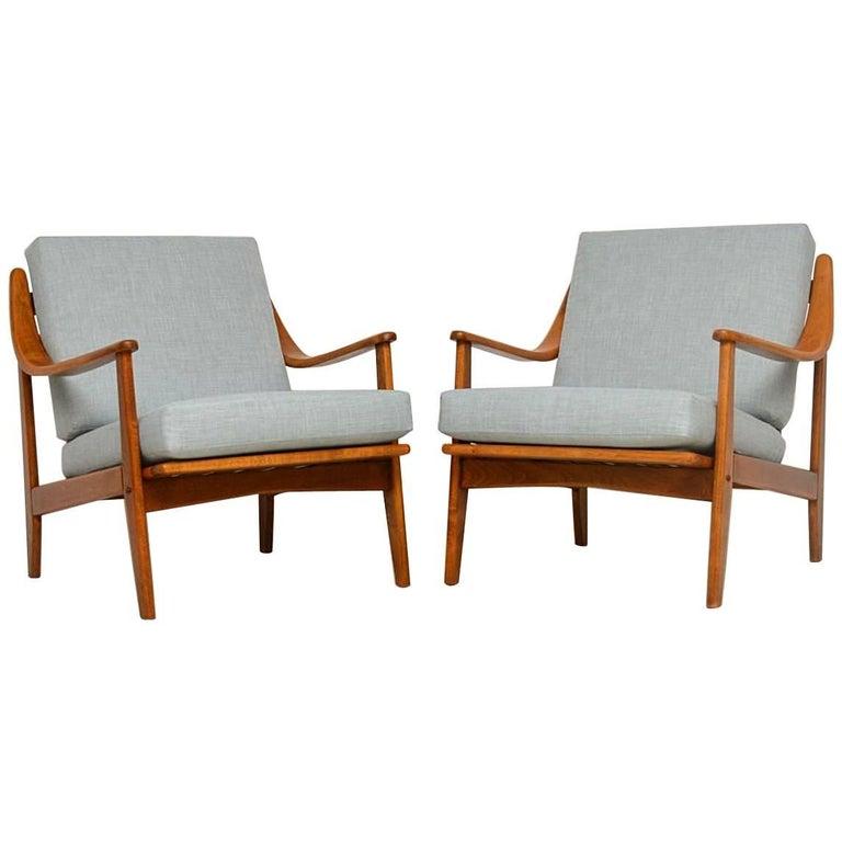 1960s Pair of Danish Vintage Armchairs