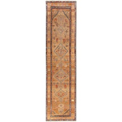Tribal Antique Persian Serab Runner Rug