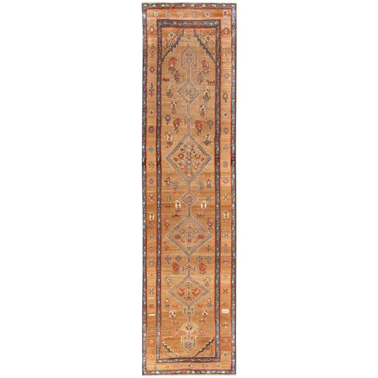 Tribal Antique Persian Serab Runner Rug