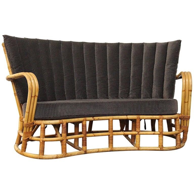 Used Cane Sofa For Sale In Bangalore: Rattan / Bamboo Sofa Giovanni Travasa For Bonacina For