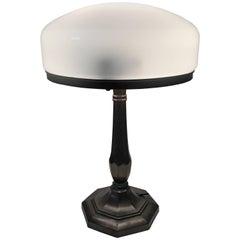 Swedish Jugendstil Art Nouveau Copper Patinated Metal Table Lamp