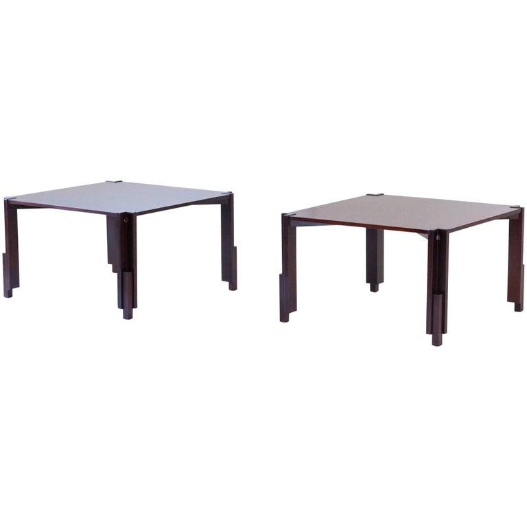 Two Italian Mid-Century Modern Coffee Tables Stildomus Attributed