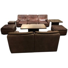 De Sede Sofa Seating Group and Low Table Set